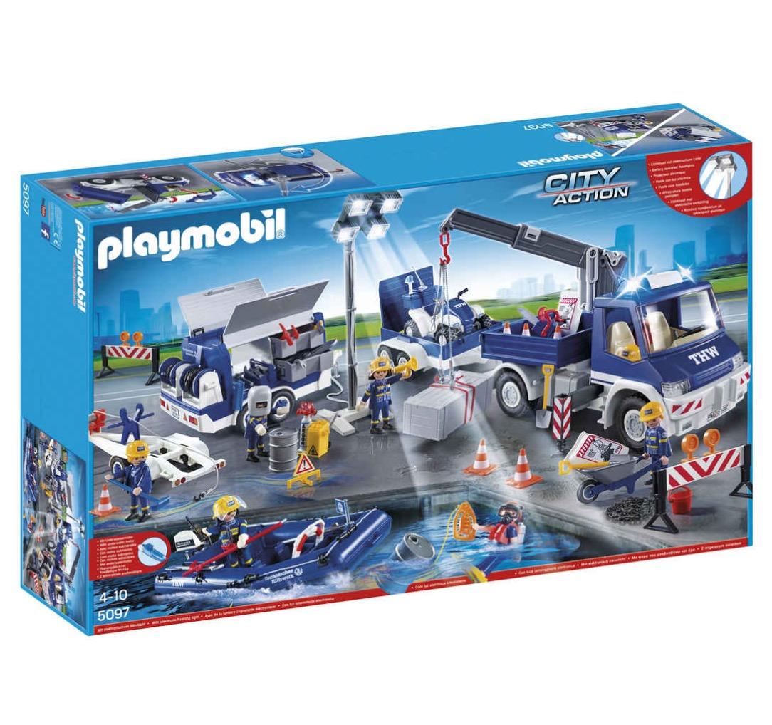 playmobil city action thw gro einsatz set 5097 f r nur 61. Black Bedroom Furniture Sets. Home Design Ideas