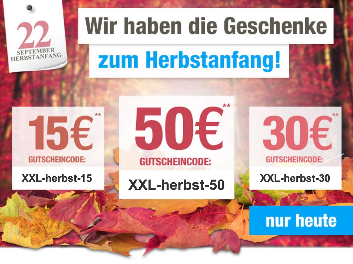Bis zu 50,- Euro Rabatt (je nach Bestellwert) dank verschiedener Gutscheine bei GartenXXL