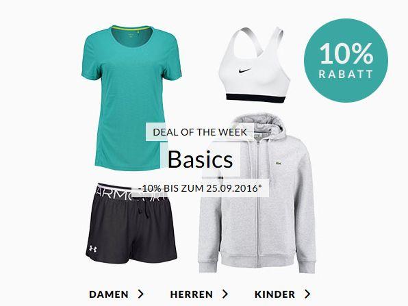 Engelhorn Sports Weekly Deal: 10% Extra-Rabatt auf Basics