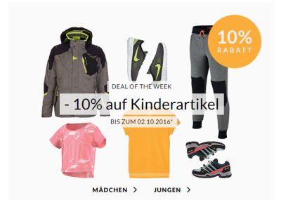 Engelhorn Sports Weekly Deal mit 10% Extra-Rabatt auf Kindermode