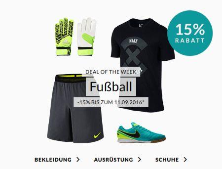 Engelhorn Sports Weekly Deal: – 15% Rabatt auf ausgewählte Fußballartikel