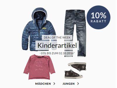 Heute neu: Engelhorn Weekly Deal mit 10% Extra-Rabatt auf Kindermode