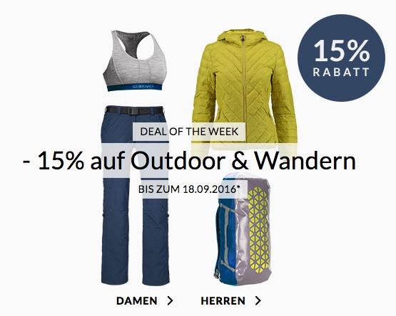 Engelhorn Sports Weekly Deal: 15% Rabatt auf Outdoor und Wandern