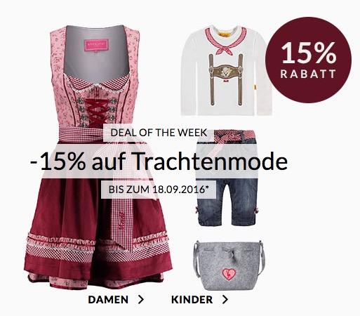 Bis Sonntag! Engelhorn Weekly Deal: -15% Extra-Rabatt auf Oktoberfest-Mode