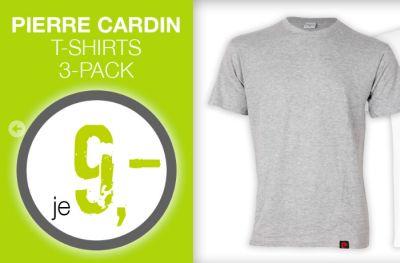 Verschiedene 3er Packs Pierre Cardin T-Shirts für je nur 8,95 Euro bei Zengoes!