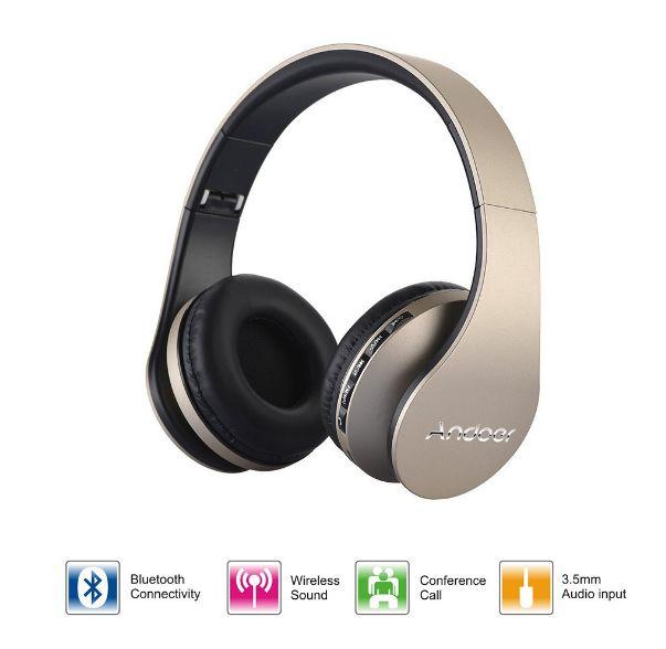 Andoer LH-811 Stereo Bluetooth Kopfhörer in 8 verschiedenen Farben für 10,31 Euro inkl. Versand