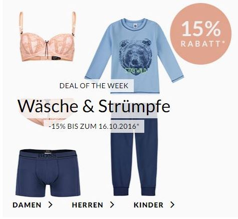 Engelhorn Weekly Deals – z.B. 15% Rabatt auf Yogaartikel oder Strümpfe & Wäsche