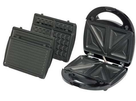 medion sandwich maker mit auswechselbaren platten f r sandwiches waffeln und zum grillen nur 13. Black Bedroom Furniture Sets. Home Design Ideas