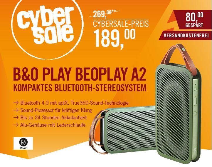 B&O PLAY BeoPlay A2 Bluetooth Lautsprecher für nur 189,- Euro inkl. Versand
