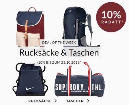 10% Extra Rabatt auf Taschen und Rucksäcke bei Engelhorn