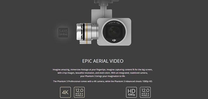 DJI Phantom 3 Professional Kamera