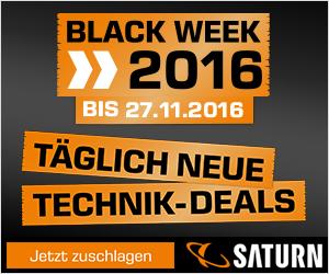 Saturn Black Week 2016 – täglich neue Deals bis 28. November!