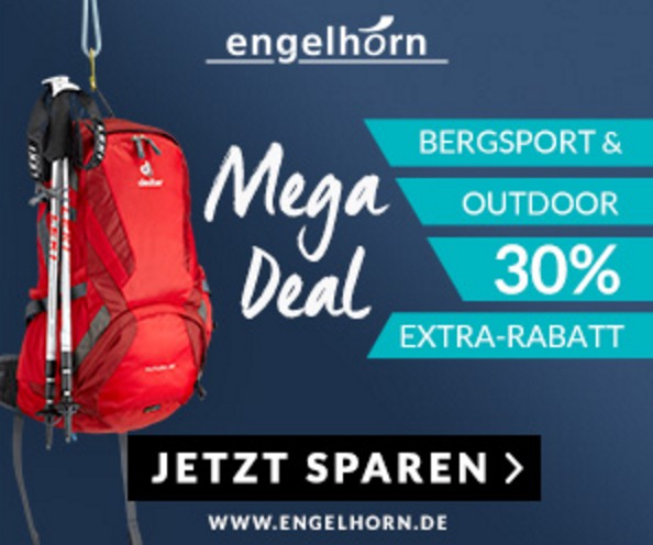 30% Rabatt auf Bergsport und Outdoor bei Engelhorn
