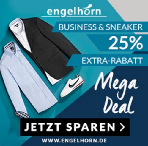 Engelhorn: 25% Rabatt auf Business & Sneaker/Schuhe – z.B. günstige Markenanzüge