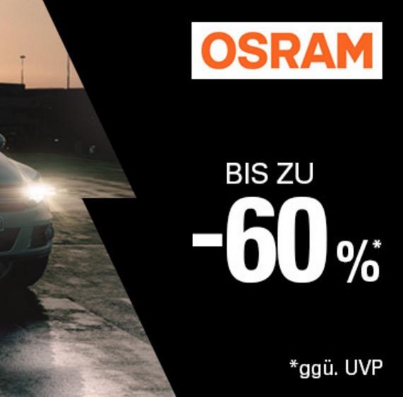 Bis zu 60% Rabatt im großen Osram-Sonderverkauf