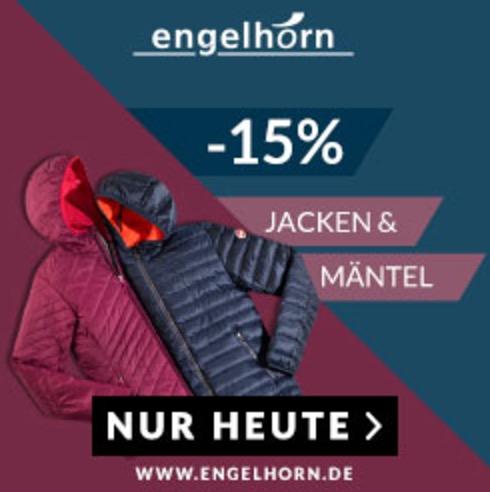 15% Extra-Rabatt auf Jacken und Mäntel