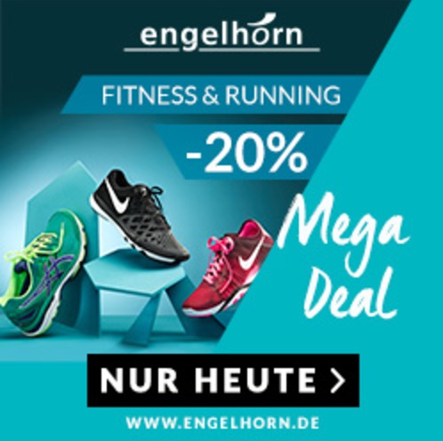 20% Extra-Rabatt auf Fitness & Runnin