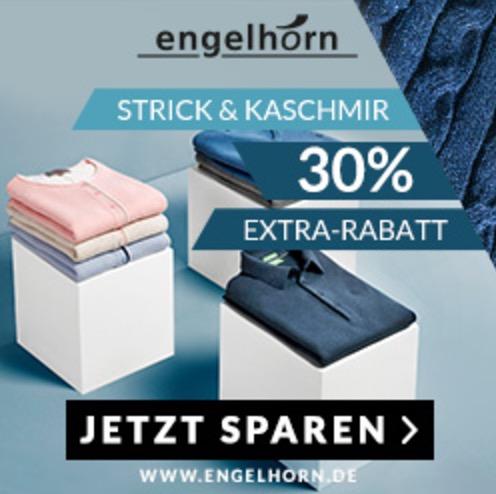 30% Extra-Rabatt auf Strick & Kaschmir