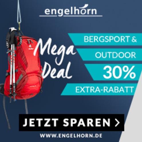 30% Extra-Rabatt auf Bergsport und Outdoor