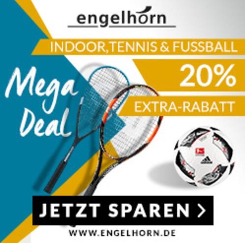 20% Extra-Rabatt auf Fußball, Tennis und andere Ballsportarten