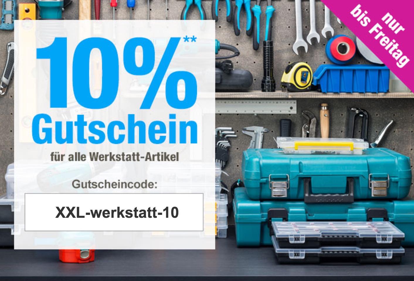10% Rabatt auf alle Werkstatt-Artikel bei GartenXXL
