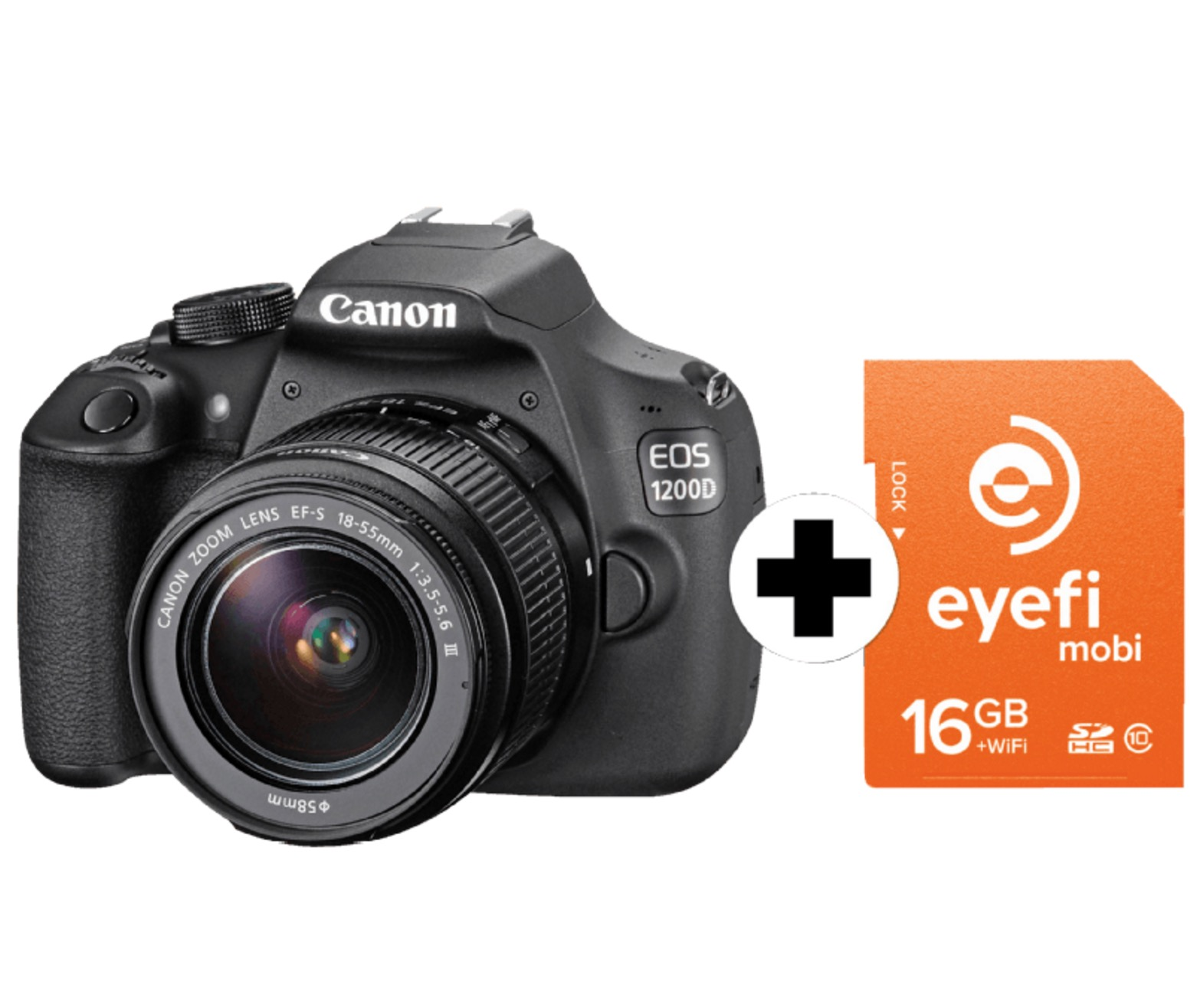 CANON EOS 1200D (18 MP, 18-55 mm Objektiv) + Eyefi Speicherkarte nur 299,- Euro