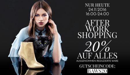 Nur heute: 20% Rabatt bei Buffalo im After Work Shopping bis 0:00 Uhr + kostenloser Versand!