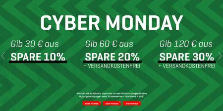 Cyber Monday bei Puma: Bis zu 30% Rabatt, kostenloser Versand ab 60,- Euro Bestellwert + 15% Newsletter Gutschein!