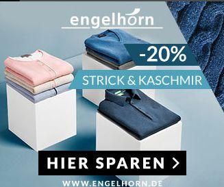 Engelhorn Jubiläum: -30% Extra-Rabatt auf Strick & Kaschmir