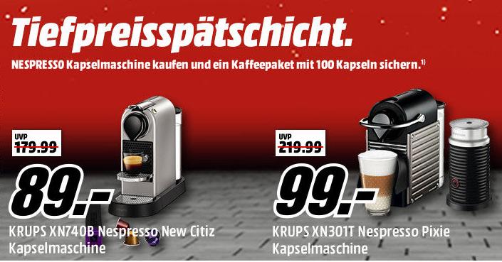 Media Markt Nespresso Aktion
