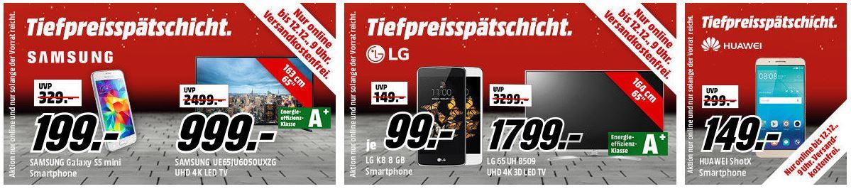 Media Markt Mega Tiefpreisspätschicht: Großes Auswahl an Elektro- und Haushaltsgeräten (TV, Smartphones, Kühlschränke, Spülmaschinen, Festplatten, USB-Sticks) zu günstigen Preisen
