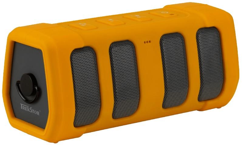 Trekstor Powerboom Bluetooth Lautsprecher (2 x 5 Watt) in Gelb für nur 24,99 Euro inkl. Versand.