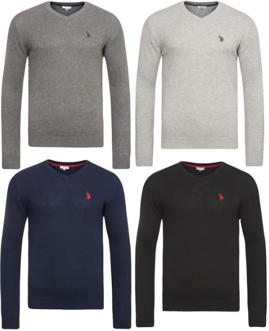 U.S. Polo Assn. V-Neck Herren Pullover in diversen Farben und Größen nur 27,99 Euro inkl. Versand