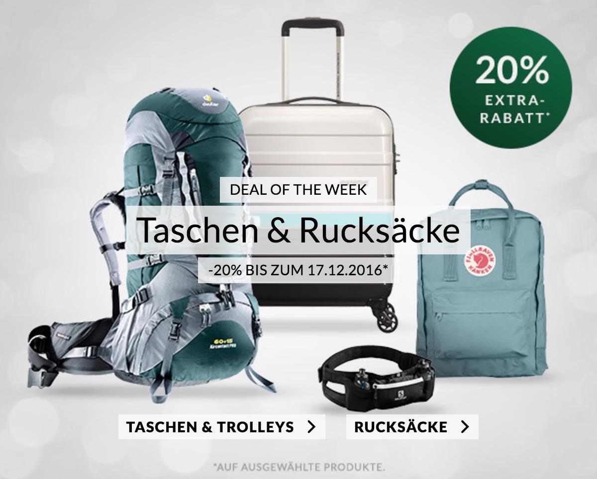 Die neuen Engelhorn Sports Weekly Deals – 20% Rabatt auf Taschen & Rucksäcke