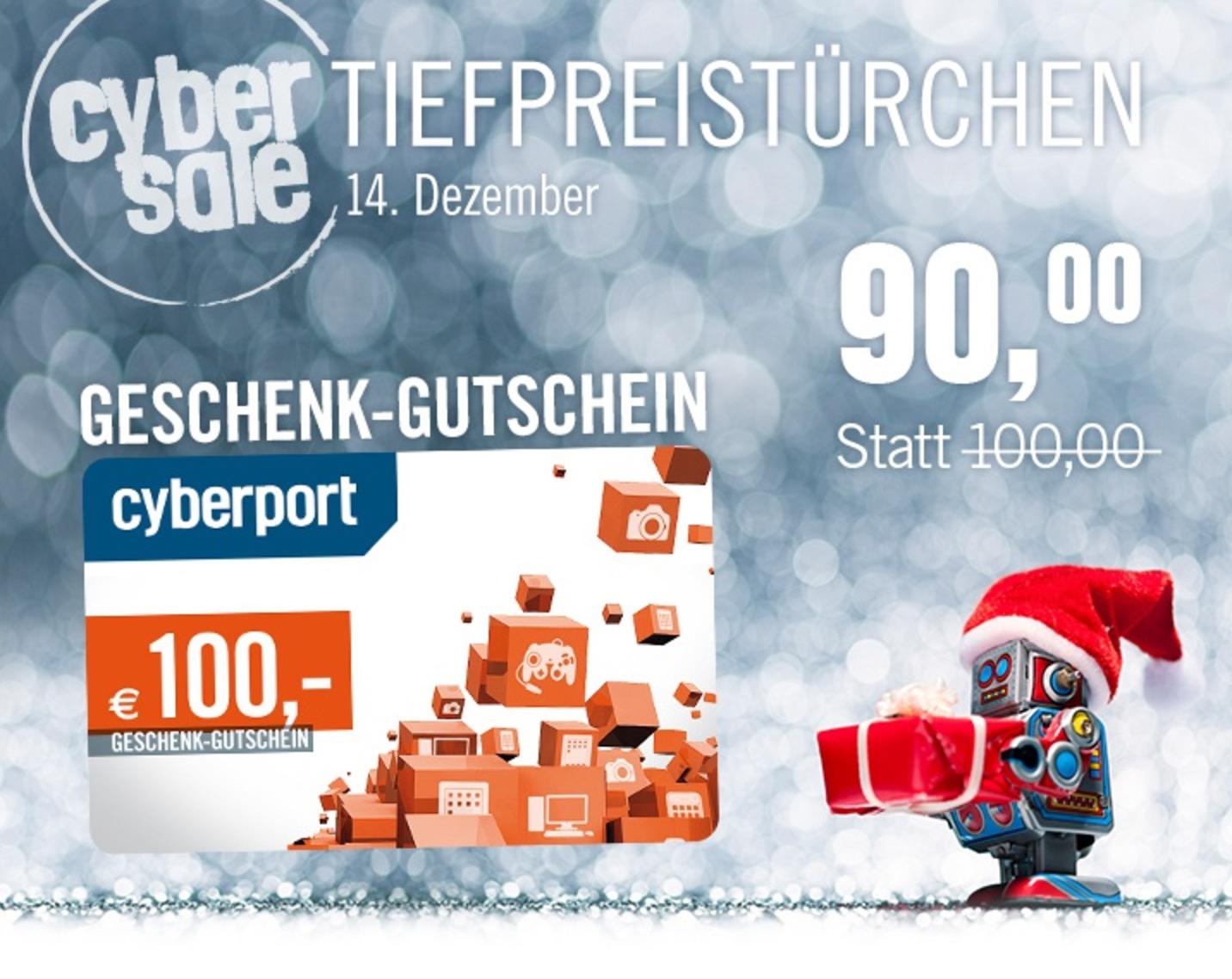 100,- Euro Cyberport Gutschein für nur 90,- Euro