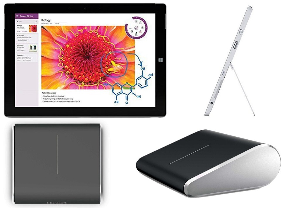 Neuware! Microsoft Surface 3 Tablet PC mit 32GB + Microsoft Wedge Touch Mouse nur 321,08 Euro inkl. Versand