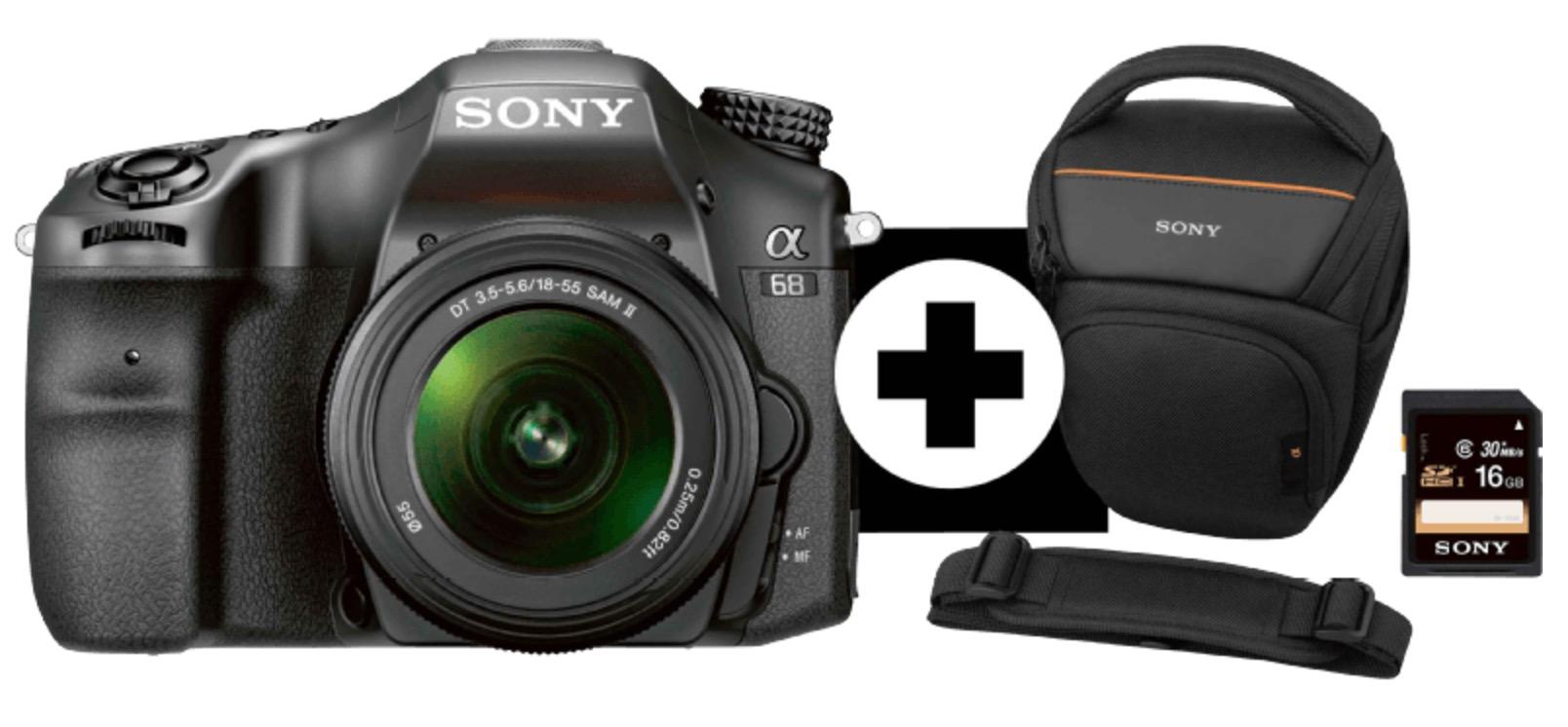SONY ILCA-68 Spiegelreflexkamera mit Objektiv, Tasche + Speicherkarte & Tamron Telezoom Objektiv für nur 555,- Euro