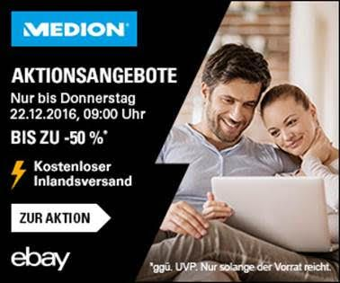Bis 22. Dezember – Medion Sonderverkauf mit bis zu 50% Rabatt auf Smartphones und Elektronik