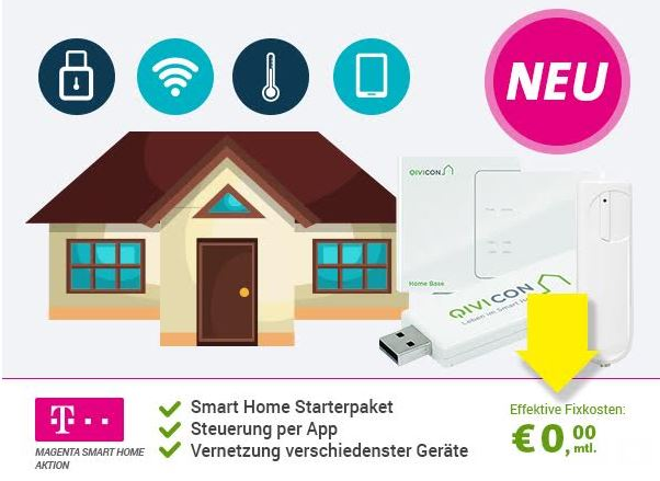 Magenta Smart Home Aktion Alarmsystem für effektiv 0,- Euro im Monat