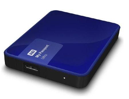 Externe Festplatte 1TB WD My Passport Ultra (2015) USB3.0 in 2.5zoll mit WD Grip Pack für 58,54 Euro