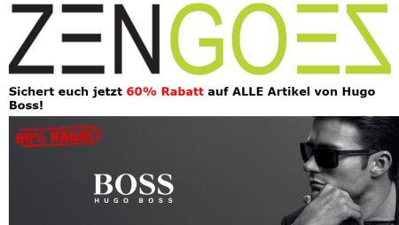 Jetzt bis zu 60% Rabatt im Hugo Boss Markensale bei Zengoes