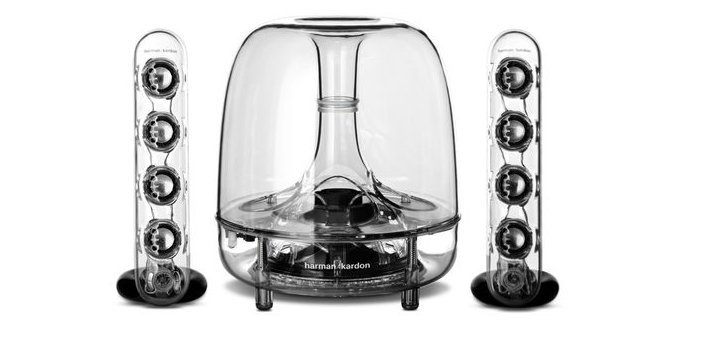 harman kardon soundsticks iii transparent 2 1 multimedia soundsystem f r nur 89 99 euro. Black Bedroom Furniture Sets. Home Design Ideas