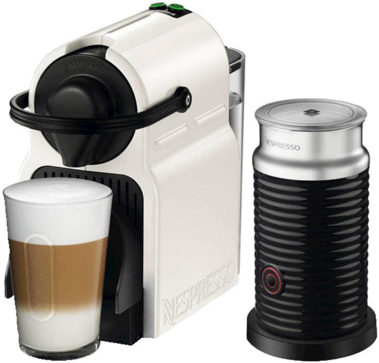 KRUPS XN1011 Nespresso Inissia Kapselmaschine in Weiß + Milchaufschäumer für nur 86,- Euro inkl. Versand + 40,- Euro Nespresso Club Guthaben