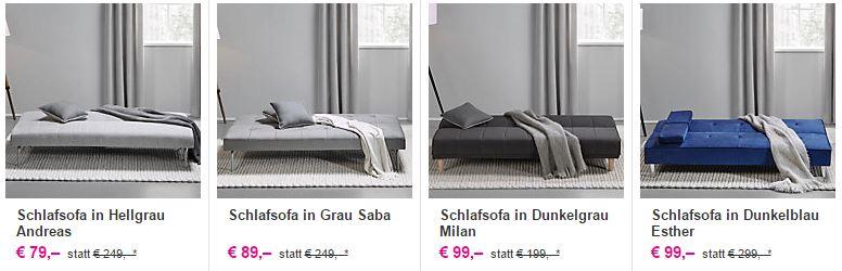 schlafsofas schon ab 59 euro inkl lieferung bei m max durch 20 euro gutschein. Black Bedroom Furniture Sets. Home Design Ideas