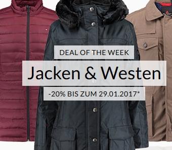 Weekly Deal: 20% auf Jacken und Westen bei Engelhorn!