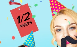 Närrische Preise bei Dress-for-less: Bis 27. Februar alles zum 1/2 Preis!