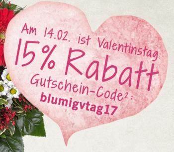 ❤ Morgen ist Valentinstag: Heute noch schnell bei Lidl-Blumen 15% Rabatt sichern!