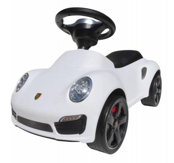 Babyauto Porsche 911 Lauflernhilfe in Weiß für nur 39,95 Euro
