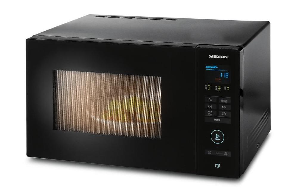 Inverter-Mikrowelle Medion MD16752 nur 79,95 Euro inkl. Versand + 19,75 Euro in Superpunkten + 10,- Euro Gutschein – effektiv 50,20 Euro