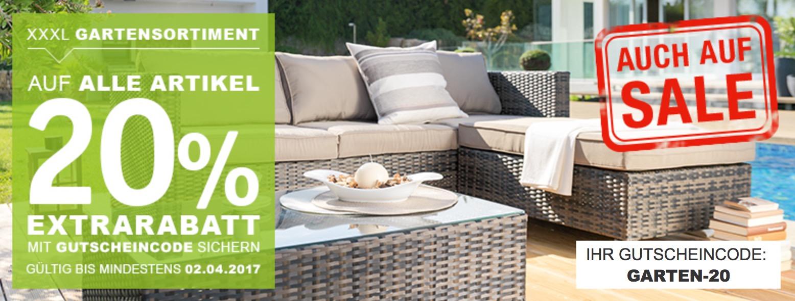 nur bis sonntag 20 gutscheincode auf gartenm bel im xxxl shop. Black Bedroom Furniture Sets. Home Design Ideas
